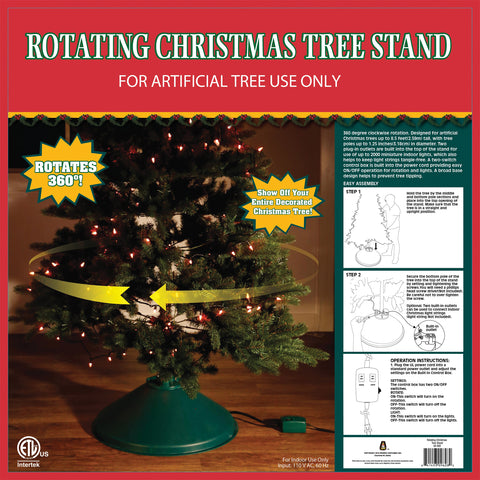 EZ Rotate Christmas Tree Stand - Animated - Willow Manor Shop