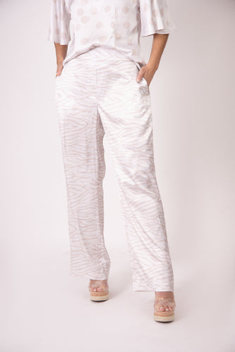 Silk Pants - White Zebra