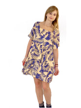 The Sustainable Dress - Yellow Short Dress with Sleeves