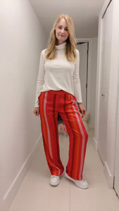 Silk Pants -  Multicolor Stripes