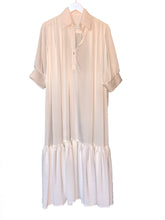 Long Dress with Sleeves - White