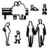 11PCS Plastic Family Cookie Cutter