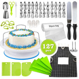 127Pcs/Set Stainless Steel Pastry Nozzles for Cream with Pastry Bag Decorating Cake Icing Piping