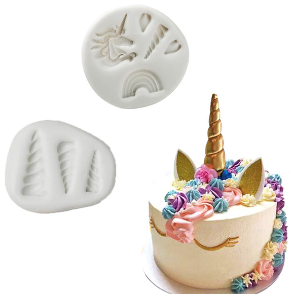 1PC Unicorn Shaped Fondant Silicone Mold DIY Cake Baking Tool