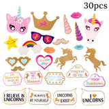1set Unicorn Party Supplies Pink Rainbow Unicorn Baby Shower birthday decoration