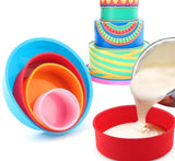 2/4pcs Round Shape Cake Silicone Mold For Baking