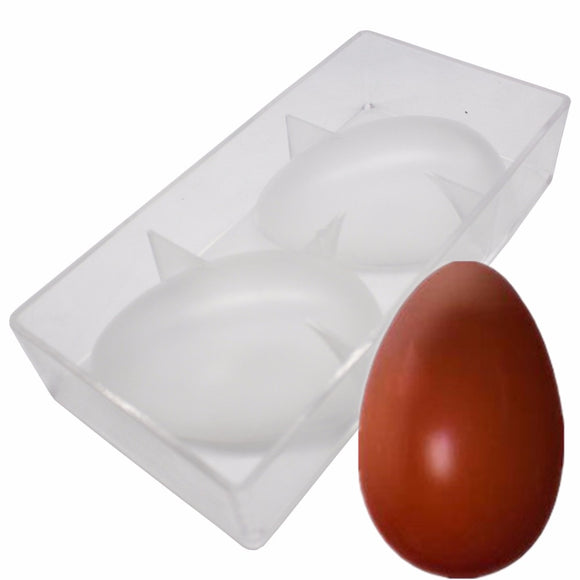 2 Cavities Polycarbonate Easter Eggs Chocolate Mold