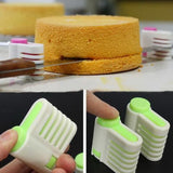 2 Pcs 5 Layers DIY Cake Bread Cutter Leveler Slicer Set Cutting Fixator Tools