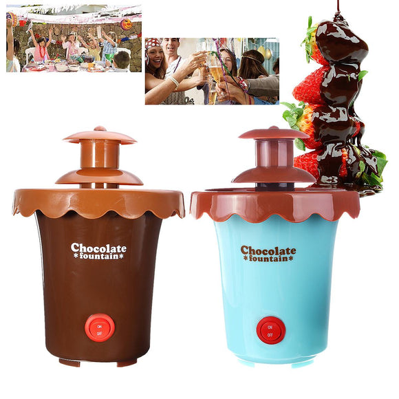 2 Tiers Mini Chocolate Fondue Maker Fountain