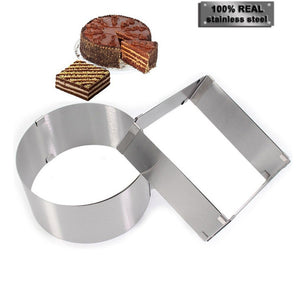 2 pcs Stainless Steel  Ring and square