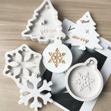 3 Styles Christmas Tree Snowflake Silicone Mould