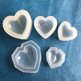 3D heart-shaped silicone mold