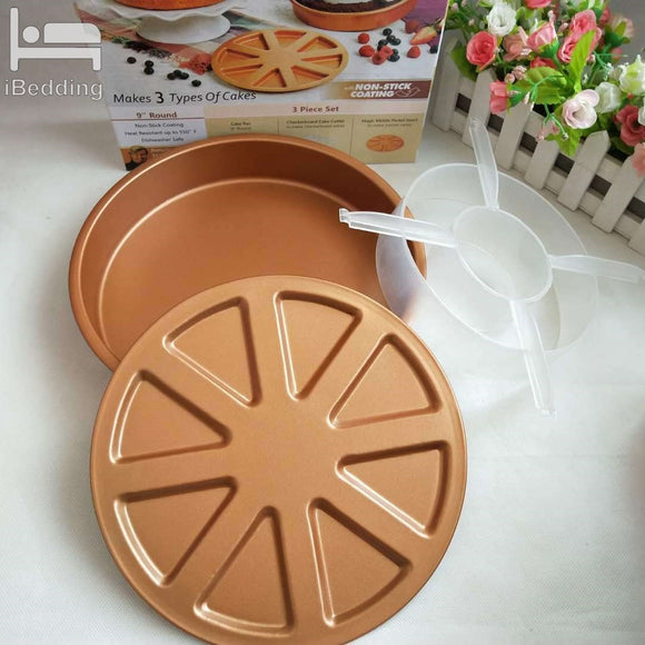 3pcs/Set Cake Mold Copper Chef