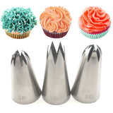 3pcs big size DIY Cream Cake Icing Piping Tips