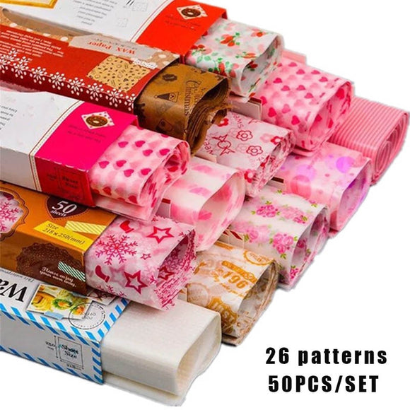 50Pcs / Set Wrapping Paper