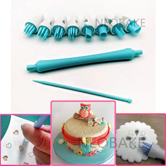 8 Patterns Fondant Cake Tool Sugar Flower Shapers