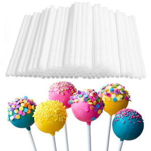 80pc practical plastic stick 10cm Lollipop Stick Eco-friendly Plastic