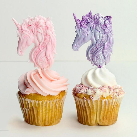 Unicorn Head Flower Baking Silicone Mold Cake