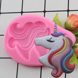 Birthday Unicorn Animalsl Silicone Mold Fondant