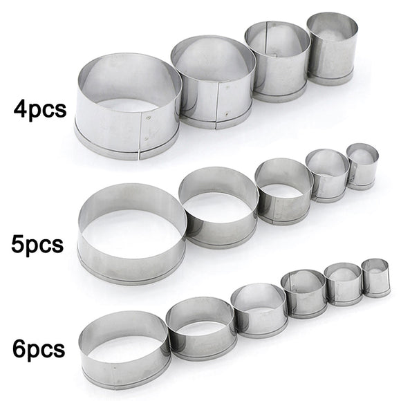 Cake Cookie Cutter Round Circle Shape Stainless Steel