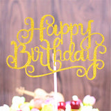 Cake Topper Happy Birthday Party Cupcake