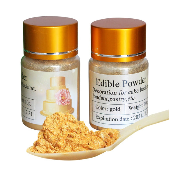 Food Coloring Gold Food Powder 10g in Cake Decorations