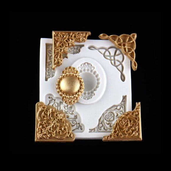 European lace embossed silicone mold