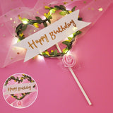 Flower LED Wedding Cake Topper Topper Party Decoration Suppliers