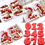 Food-Grade Silicon Number Shape Cake Mold
