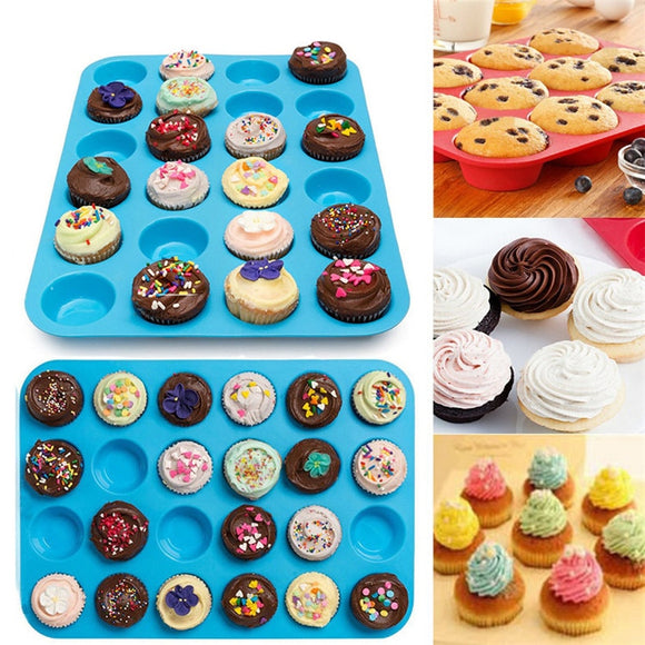Mini Muffin Cup 24 Hole Silicone