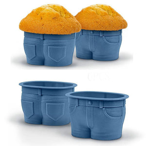 Jeans Cake Mold Muffin Tops Denim-Style Baking Cups