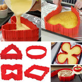 MAGIC 4Pcs Set Silicone Cake Mold