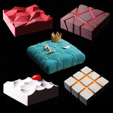 3D Pan Silicon Molds Square For Cake Baking
