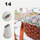 #14 Stainless Steel cake Icing Piping Basket Weave Tips