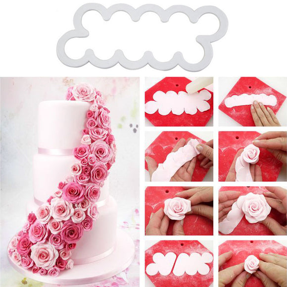 3PCS Embossed Rose Flower Baking Tool -  cake lover