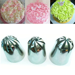 3 PCS Large Crea Stainless Steel Icing Piping -  cake lover