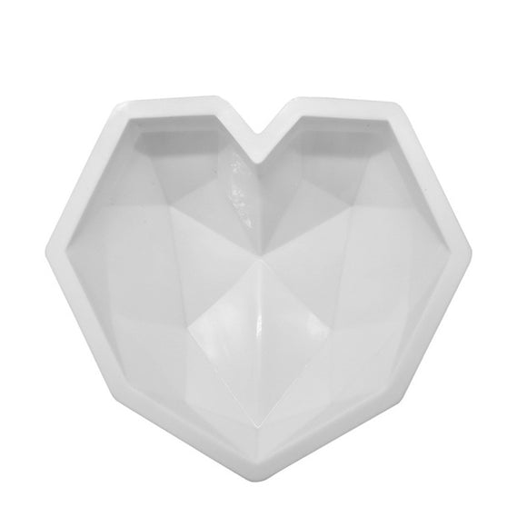 Diamond Heart Silicone Cake molds -  cake lover
