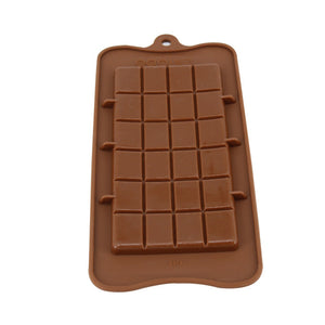 24 Cavity Square Silicone Chocolate Baking Mold -  cake lover