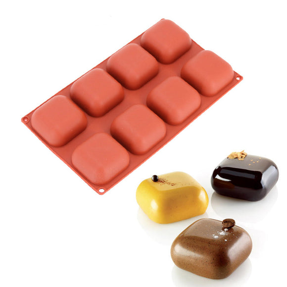 Silicone Square Gem Design Cake Baking Mold -  cake lover