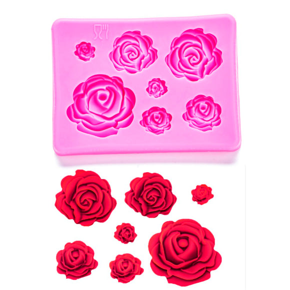 Roses silicone  mold -  cake lover