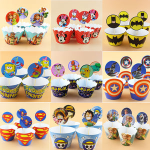 12sets SofiaCartoon paper cupcake -  cake lover