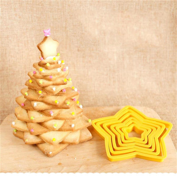 6PCS/set Star Shaped Plastic -  cake lover