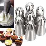 7Pc Hot Ball Nozzles Stainless Steel Dessert Decorators -  cake lover