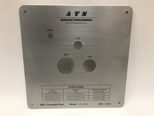 Airflow Calibration Plates - Multi Orifice Plate (NIST Traceable)
