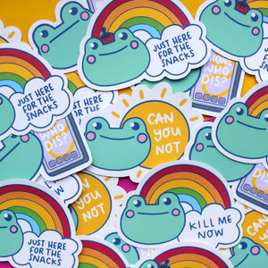 Bright Rainbow and Sun Vinyl Stickers