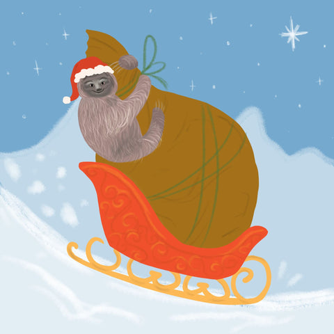 Sloth in a Sleigh
