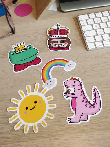 Cute Glossy Vinyl Stickers