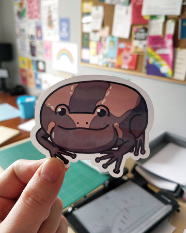Vinyl Sticker of illustrated frog