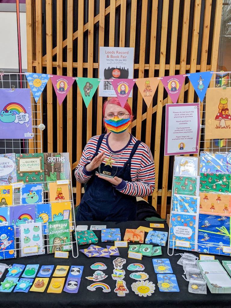 Leeds Young Traders Stall, June 2021, Bronte Laura Illustration