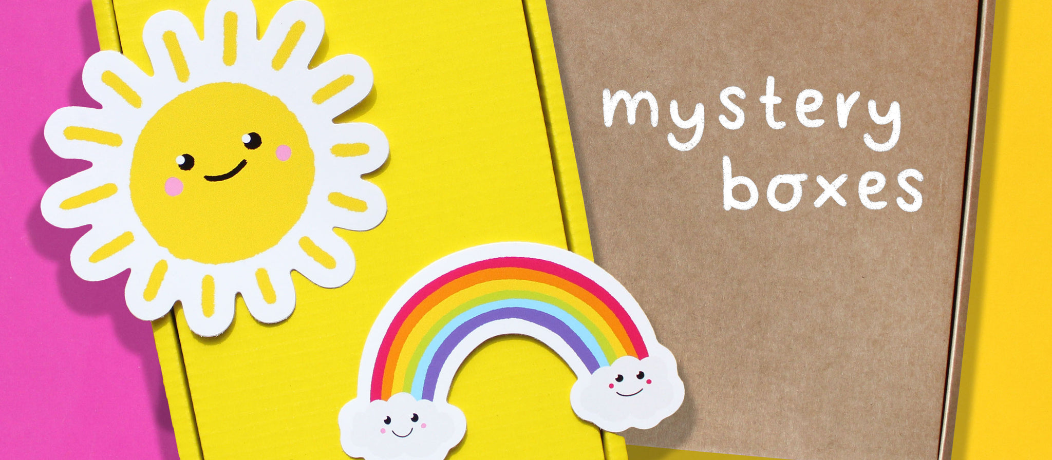 Novelty colourful mystery boxes for kids & adults, UK